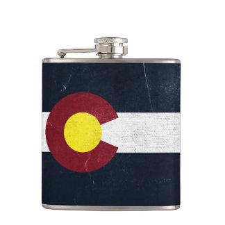 Colorado Dark Grunge Flag Hip Flask