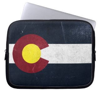 Colorado Dark Grunge Flag Laptop Computer Sleeves