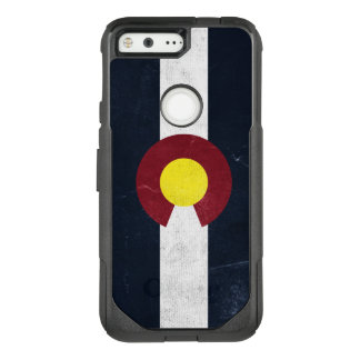 Colorado Dark Grunge Flag OtterBox Commuter Google Pixel Case