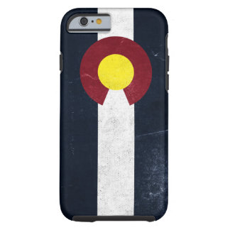 Colorado Dark Grunge Flag Tough iPhone 6 Case