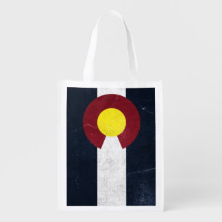 Colorado Dark Grunge Flag (Two-Sided) Grocery Bags