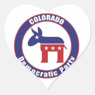 Colorado Democratic Party Heart Stickers