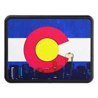 Colorado Denver skyline flag trailer hitch cover