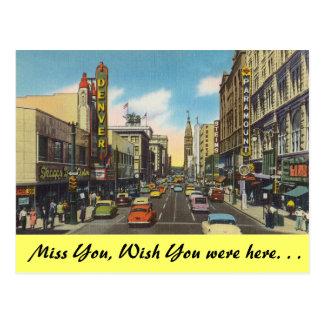 Colorado, Downtown Denver Postcard