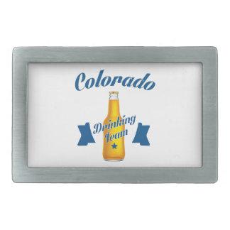 Colorado Drinking team Rectangular Belt Buckle