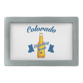 Colorado Drinking team Rectangular Belt Buckles
