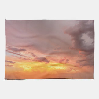 Colorado Eastern Plains Sunset Sky Hand Towels