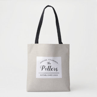 Colorado Family Monogram State Tote Bag