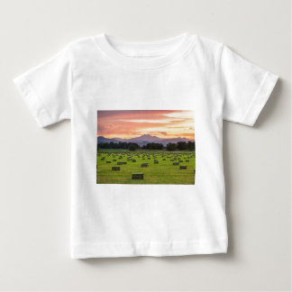 Colorado_Farmers_Burning_Sunset Baby T-Shirt