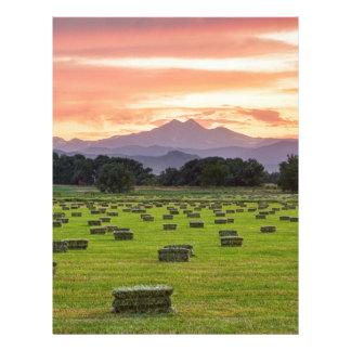 Colorado_Farmers_Burning_Sunset Personalized Letterhead