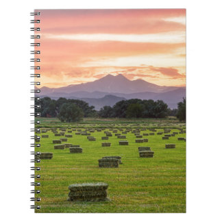 Colorado_Farmers_Burning_Sunset Spiral Note Books