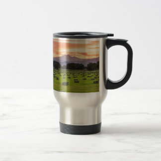Colorado_Farmers_Burning_Sunset Travel Mug