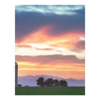 Colorado Farmers Sunset Letterhead Template