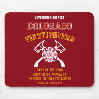 Colorado Firefighters Mousemat Mouse Pad