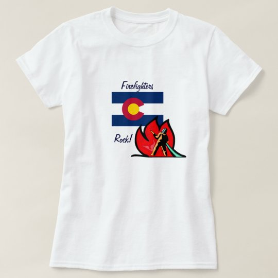 Colorado Firefighters Rock T-Shirt