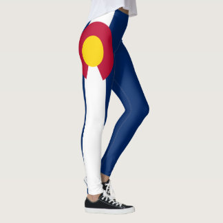 Colorado Flag 90 degree full bleed Leggings