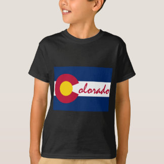 Colorado Flag and Text T-Shirt