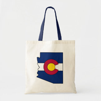 Colorado flag Arizona outline tote bag