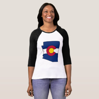 Colorado flag Arizona outline womens shirt