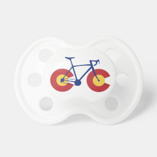 Colorado Flag Bicycle Baby Pacifiers