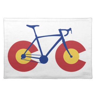 Colorado Flag Bicycle Placemat