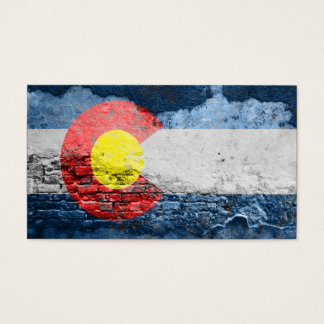 colorado flag brick wall business card