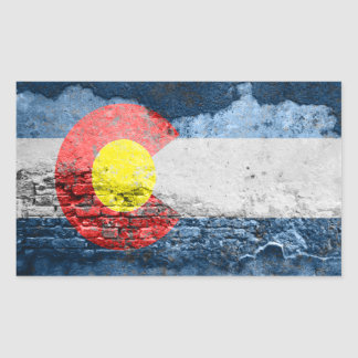 colorado flag brick wall sticker