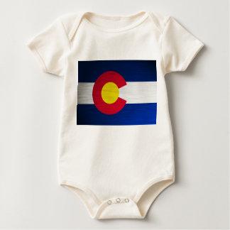 Colorado Flag Brushed Baby Bodysuit