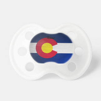 Colorado Flag Brushed Baby Pacifier