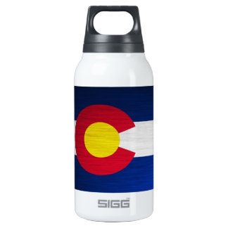 Colorado Flag Brushed Insulated Water Bottle