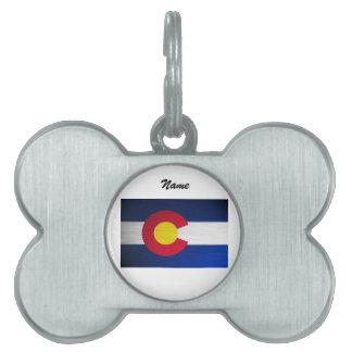 Colorado Flag Brushed Pet ID Tag