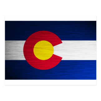 Colorado Flag Brushed Postcard