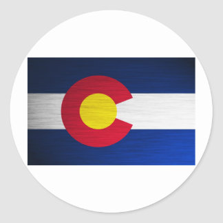 Colorado Flag Brushed Round Sticker