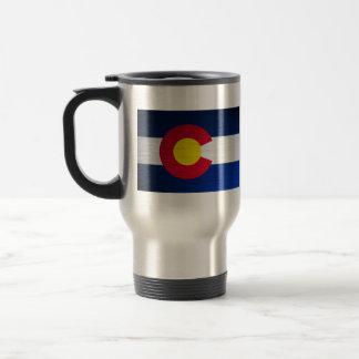 Colorado Flag Brushed Travel Mug