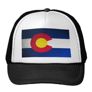Colorado Flag Brushed Trucker Hat