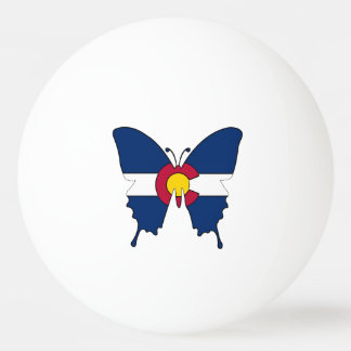 Colorado flag butterfly ping pong ball