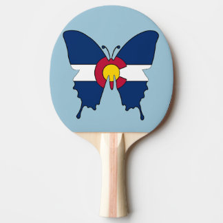 Colorado flag butterfly ping pong paddle
