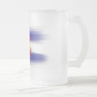 Colorado flag chalk beer mug