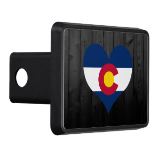 Colorado flag colored trailer hitch covers