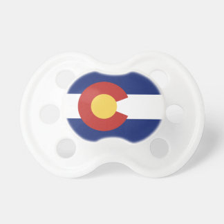 Colorado flag custom baby pacifier