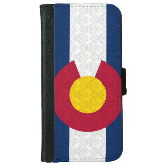 Colorado Flag Damask Pattern iPhone 6 Wallet Case