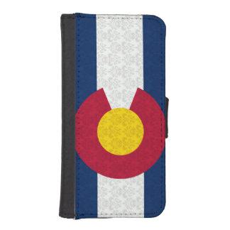 Colorado Flag Damask Pattern iPhone SE/5/5s Wallet Case