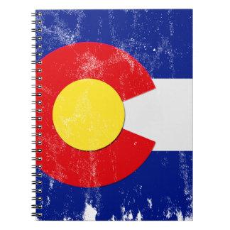 Colorado Flag Distressed Spiral Notebook