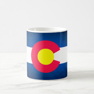 Colorado flag fade coffee mug cup
