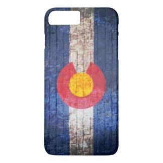 Colorado flag grunge brick wall iPhone 7 case