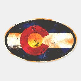 Colorado Flag Grunge Sticker