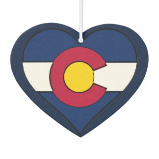 Colorado flag heart air freshener