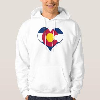 Colorado Flag Heart Hoodie
