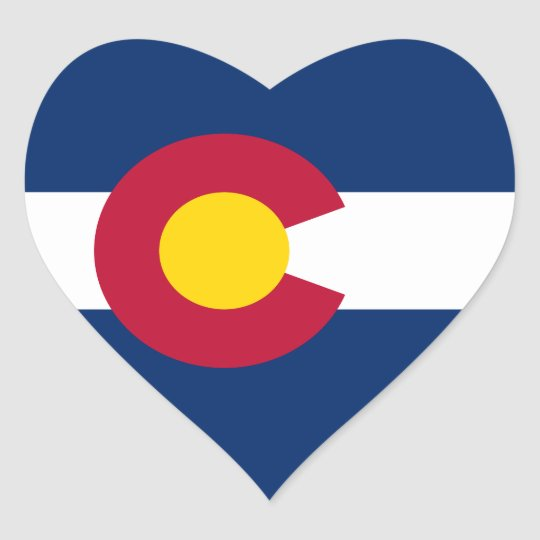 Colorado Flag Heart Sticker