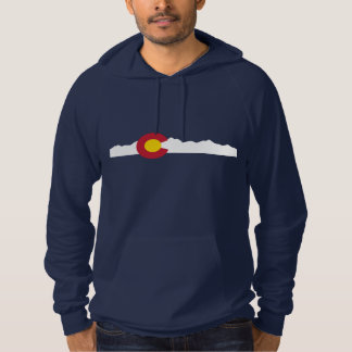 Colorado Flag & Mountains Hoodie